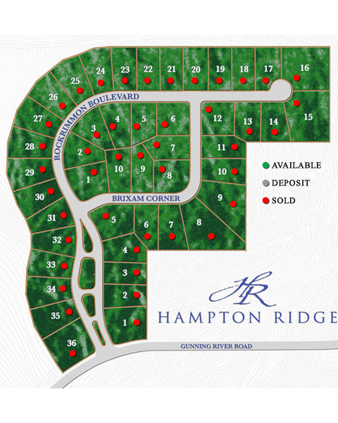 Hampton Ridge Site Plan by Stonehenge Building & Development