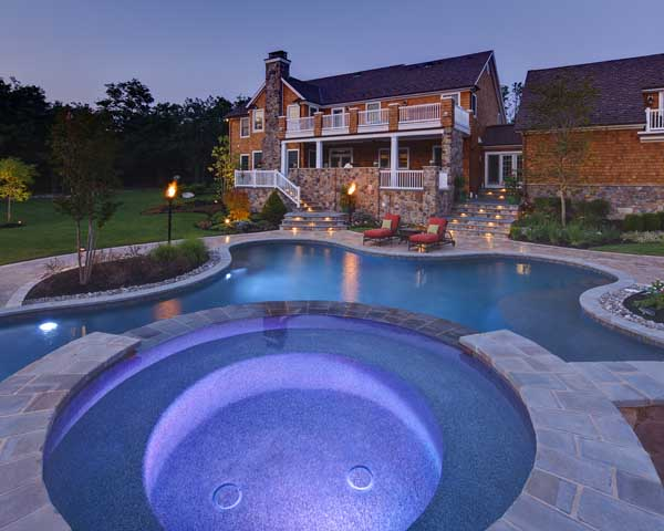 water features for custom homes