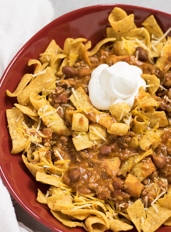 Crockpot Frito Chili Pie - The Salty Marshmallow