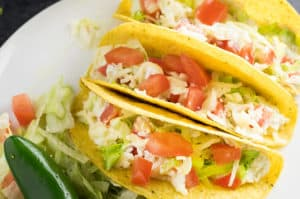 Crockpot Jalapeno Ranch Chicken Tacos