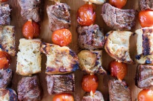 Steak & Garlic Bread Kabobs