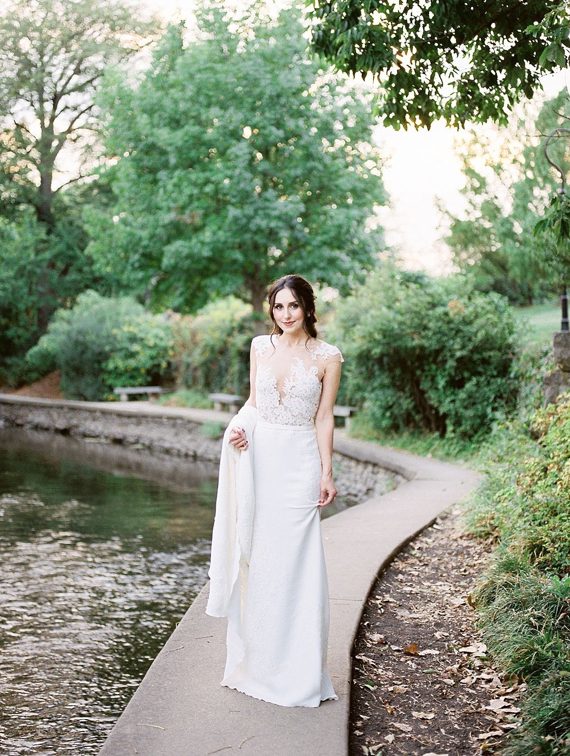 Gray Red Bridal Style