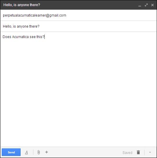 Acumatica Test Email