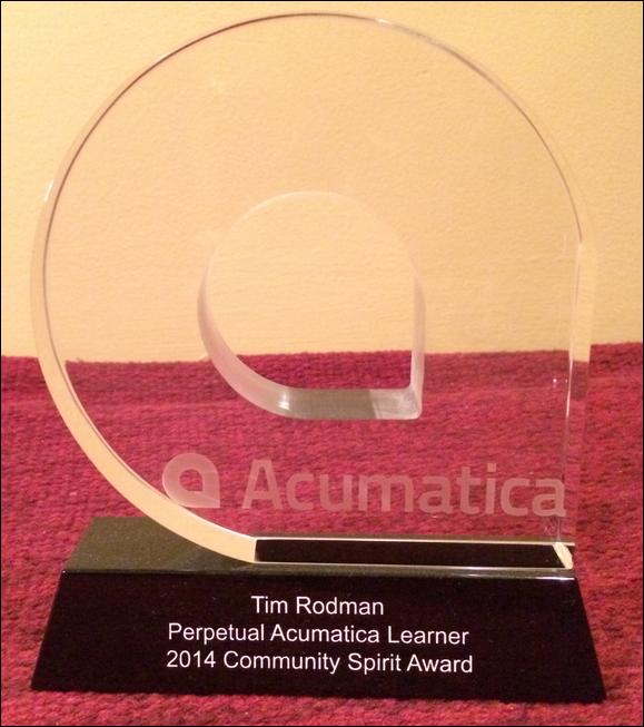 2014 Community Spirit Award