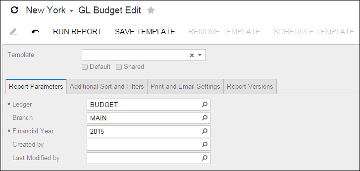 Acumatica Report Review: GL Budget Edit