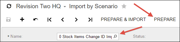 Sample Acumatica Import Scenario (Stock Items Change ID)