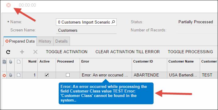 Sample Acumatica Import Scenario (Customers)