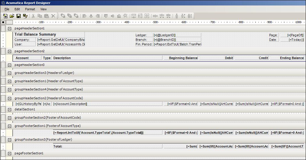 Acumatica Report Designer - Project Quote Form