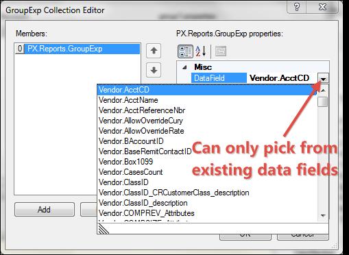 Acumatica 4.2 Report Designer Grouping