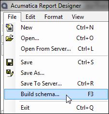 Build schema...