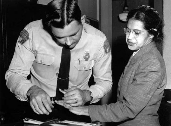Rosa Parks fingerprinted