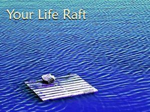 life raft blue