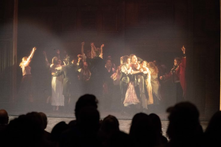 LCHS students present Les Miserables at La Canada High School, La Canada Flintridge, California, USA on April 20 2018 Photo by: Tobias Lewsadder