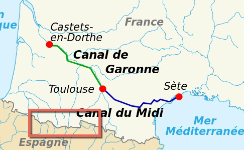 The Midi-Pyrenees in France map