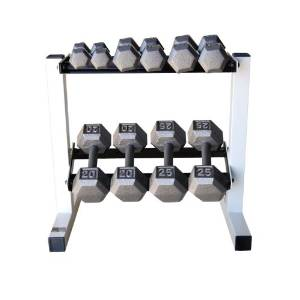 1.CAP Barbell 150 lb. Hex Dumbbell Set with Rack
