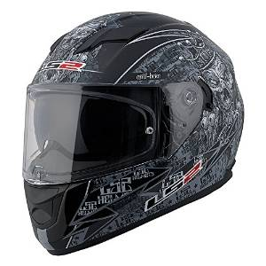1.LS2 Stream Anti-Hero Full Face Motorcycle Helmet With Sunshield