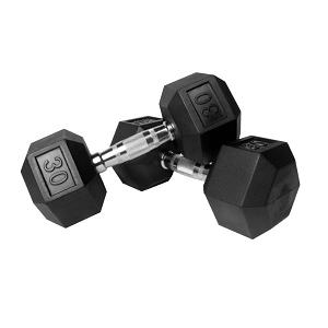 3.XMark Fitness Rubber Hex Dumbbell Set