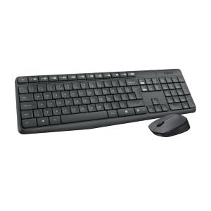 de logitech mk235 is een draadloos toetsenbord met muis die extra lang meegaan door de lange levensduur van de batterijen het is een qwerty toetsenbord met