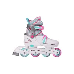 2d43d111ae6 De Junior inline skates voor kinderen zijn beschikbaar in twee  verschillende kleurencombinaties en vier verschillende maatcombinaties.
