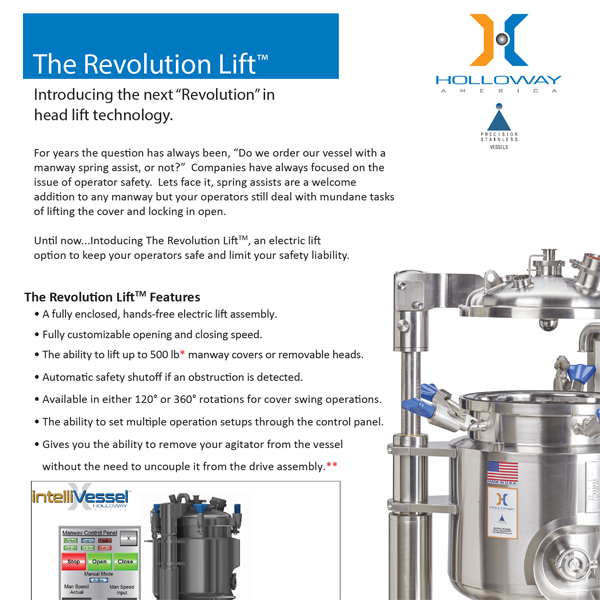 The Revolution Lift™ is an innovative new smart tank technology offering by HOLLOWAY AMERICA.