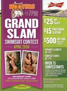 Hooters Grand Slam Swimsuit Contest Flyer 863area.com