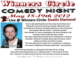 Dustin Diamond at Winners Circle www.863area.com