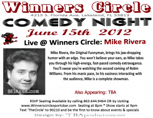 Comedy Night at Winners Circle with Mike Rivera