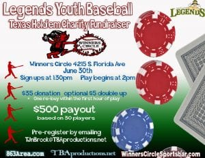 Legends Youth Baseball Benefit Poker Tournament | 863area.com
