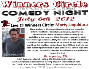Fri. July 6th - Touring Comedian Marty Laquidara comes to Lakeland! | 863area.com