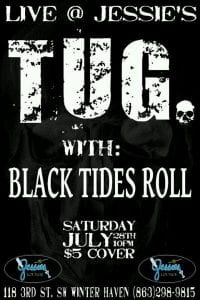 Tug & Black Tides Roll Live at Jessies in Winter Haven FL | 863area.com