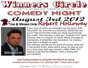 Fri. Aug 3rd - Comedy Night with Touring Comedian Robert Holloway