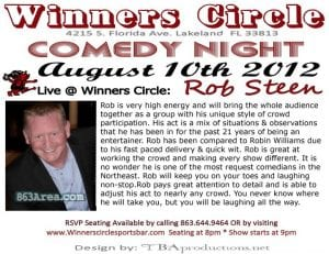 Comedy Rob Steen @ Winners Circle | 863area.com