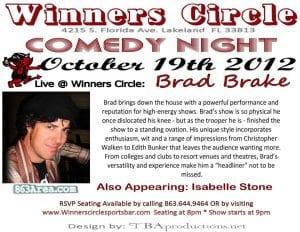 Friday Night Comedy w/ Brad Brake & Isabelle Stone at Winners Circle