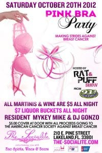 Socialite Pink Bra Party with Rat & Puff from 93.3FLZ | 863area.com