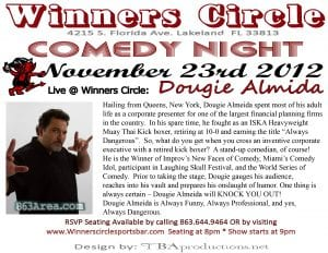 Friday Night Comedy at Winners Circle w/ The Wise Guys of Comedy - Nov 23rd
