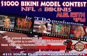 TBAproductions NFL Kick-Off $1000 Bikini Model Contest at Winners Circle
