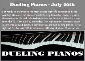 Wc Dueling Piano's - July