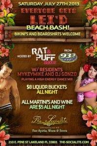 Socialite Bikini & Board Shorts Beach Bash - Sat July 27th