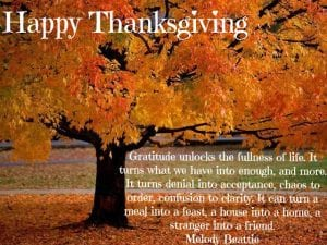 Happy Thanksgiving to all our fans, friends, followers, and family!