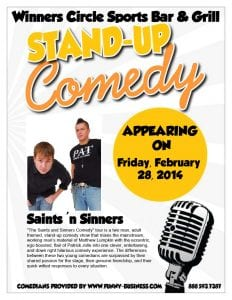 Friday Night Comedy with Saints & Sinners Comedy Tour - 2/28/14