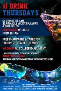 Socialite Thursdays - College Night $1 Drinks