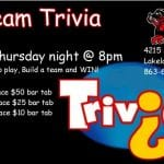 Winners Circle Team Trivia Thursdays