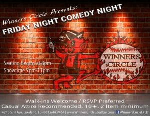 Friday Night Comedy at Winners Circle - AUGUST LINEUP