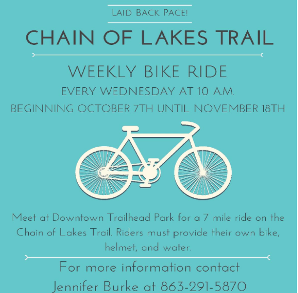 chain of lakes trail bike ride