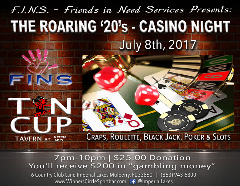 Fins Presents The Roaring 20 S Charity Casino Night At