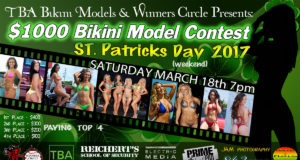 Sat. Mar. 18th - TBA Bikini Models St. Patricks Day 2017 $1000 Bikini Contest at Winners Circle Lakeland
