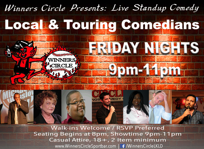 Friday Night Comedy Nights at Winners Circle Sportsbar - Lakeland, Florida