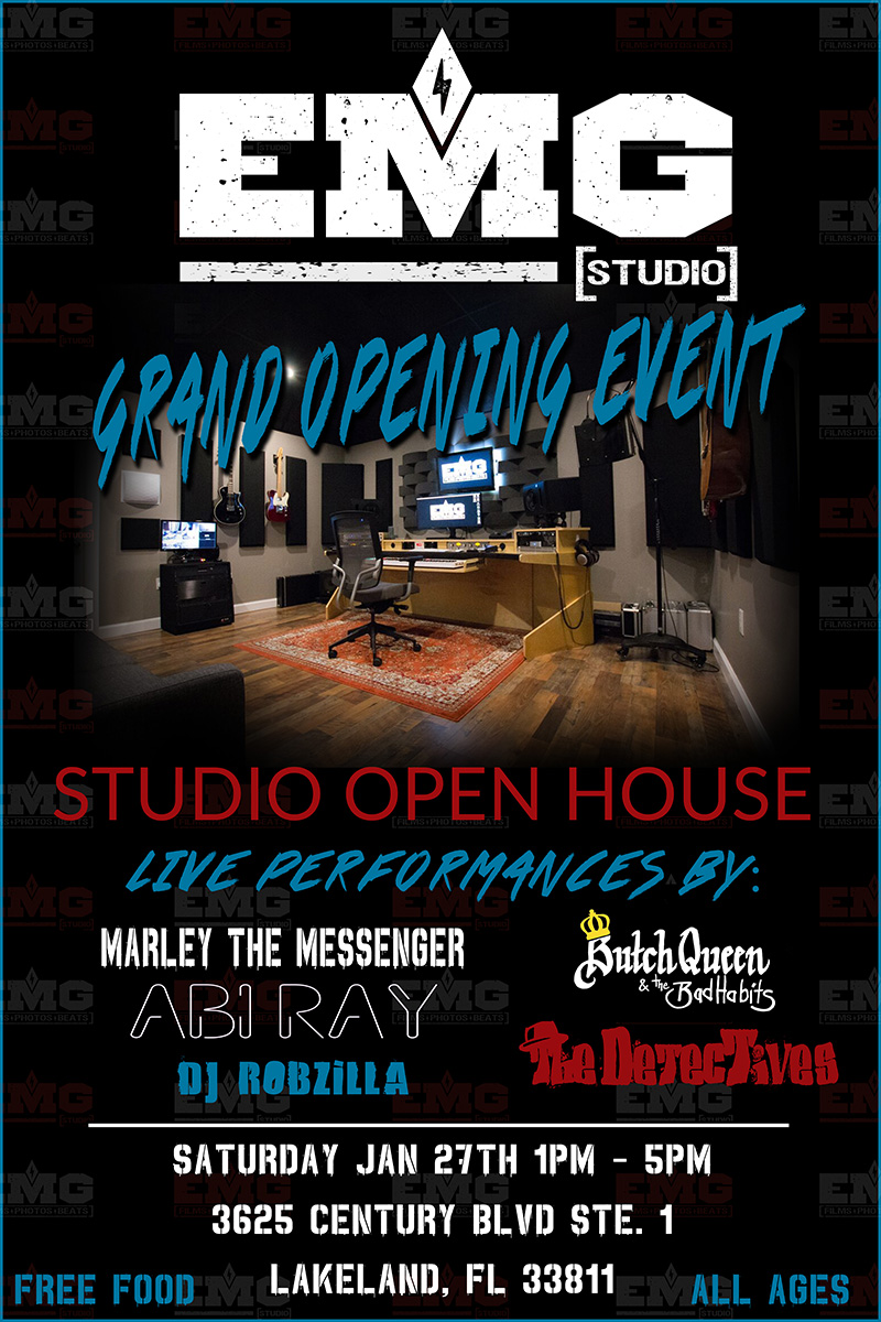 Sat. Jan 27th - EMG Studio Grand Opening