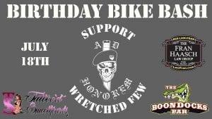 Lakeland, Boondocks Bar, Bike Wash, Food trucks, Vendors, Live music, Raffles, Drink Specials, Entertainment