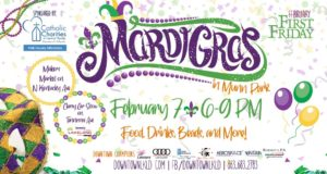Mardi Gra, Munn Park, downtown, Lakeland, Catholic Charities, Food, Drinks, Beads, Car show